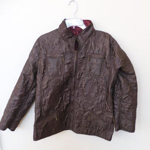 CHICO's sz 2 quilted reversible jacket